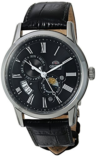 Orient Men's Analog Japanese-Automatic Watch with Leather Calfskin Strap FAK00004B0