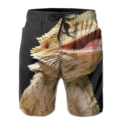 Tall Womens Ski Pants (Personality Beach Shorts Trucks Pants Teen Boys Beach Board Shorts Green Bearded Dragon Lizards Boardshorts)