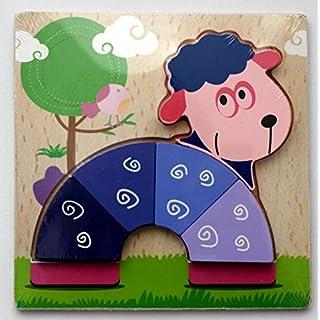 AeMBe - Holz Puzzle Schaf - Legespiel Lernspiel / Holz Spielzeug / Gedächtnisspiel für Kinder - Legespiel Anlegen - Motoric Übungen