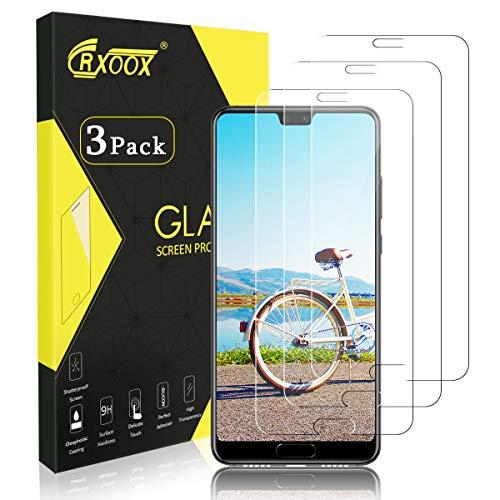CRXOOX Panzerglas Schutzfolie für Huawei P20 Pro, [3 Stück] 9H Gehärtetem Glas Anti-Öl, Kratzer und Fingerabdrücke Blasenfrei 3D Touch Kompatibel Panzerfolie Displayschutzfolie für Huawei P20 Pro Touch Pro Handys