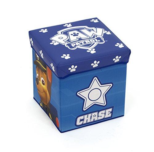 ARDITEX Paw Patrol Taburete-Caja guardacosas, Tela, Azul, 30x30x30 cm