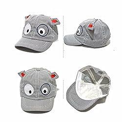 Kids Boys Girls Baseball Cap Sun Cap ❤️❤️ LILICAT Cartoon Dog Printed 3D Ear Cute Beret Hats Outdoor Sun Beach Cotton Hat for 1-4 Years Old Bucket Hats