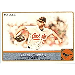 2011 Topps Allen & Ginter GLOSSY Edition Baseball Card (#'d out of 999) #317 Brian Matusz SP Baltimore Orioles In a