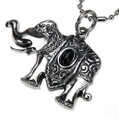 Colgante de acero inoxidable templo-Elefant, engalanado, con cadena