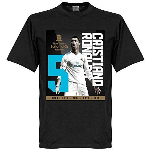 Ronaldo 5x Ballon d'Or T-Shirt - schwarz - 5XL - 5xl 5x T-shirt
