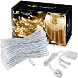 LE 3*3.04M 304 LED Curtain Lights, String Fairy Light, Window Curtain Icicle Lights, 8 Modes,Warm White, 3000K, Window Lights, for Christmas/Wedding/Party Decorations