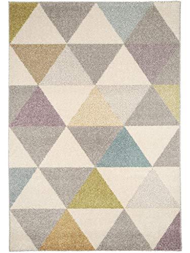Benuta Alfombra Pastel Geomet | Moderna Alfombra para salón y Dormitorio, Fibra sintética, 80 x 150 x 2 cm