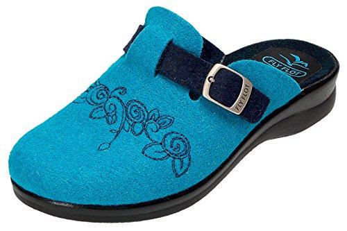 Fly Flot Slipper da Donna 863248 Azzurro blau