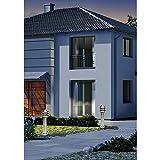 GEV Standleuchte außen mit Bewegungsmelder LLE 21693, Eisen, Silber, 15 x 15 x 50 cm