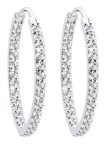 Elli - Pendientes de plata de ley con cristal de swarovski
