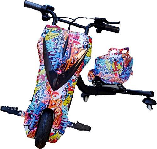 Oviboard Triciclo Derrapador Eléctrico para Niños, 3 Velocidades, Bluetooth y Luces LED...