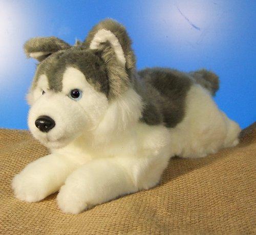Husky mala silencio de trineo de perro tumbado * 30 cm *...