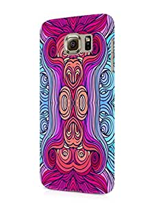 Cover Affair Abstract Printed Designer Slim Light Weight Back Cover Case for Samsung Galaxy S6 Edge