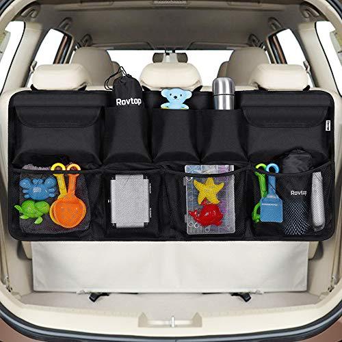 Rovtop Organizer Bagagliaio Auto, Borsa per Bagagliaio Auto,Organizer per Bagagliaio per SUV e MPV, 9 Tasche per Riporre Gadget Auto, Tenere la Auto in Ordine e Trasportare più Oggett