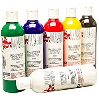 6 x 300ml Scola Fabric Paint Assorted Colours Set FAB300/6/A