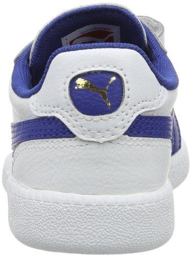 Puma Icra Trainer V Unisex-Kinder Sneakers Weiß (white-monaco blue-team gold 02)