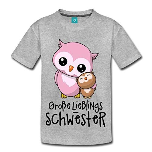 3188c0287b2b Spreadshirt Große Lieblings Schwester Niedliche Eulen Kinder Premium T-Shirt