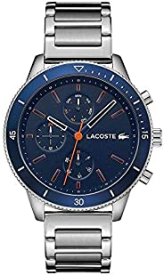 Lacoste Men'S Navy Dial Stainless Steel Watch - 201