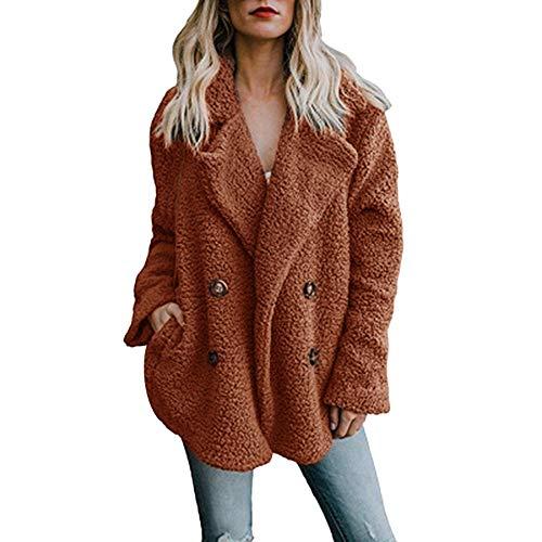 Dorical Mantel Damen Winter Warm Einfarbig Übergröße Lange Ärmel Beiläufig Jacke Parka Outwear Damen Mantel