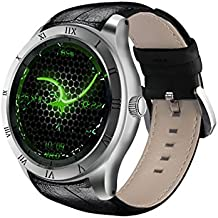 Diggro DI05 Smartwatch WIFI GPS Android 5.1 Bluetooth MTK6580 1.3GHZ Quad Core RAM / ROM 512MB + 8GB Apoyo 3G Nano SIM Tarjeta 1.39inch AMOLED reloj inteligente Llamando Heart Rate Monitor Pedometer Tiempo Salud Recordatorio para Android y IOS (plata)