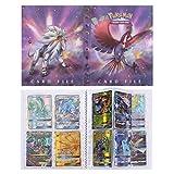 Pokémon Carte Album, Pokemon Cartes Titulaire, Albums de Cartes à Collectionner, Classeur pour Cartes Album Livre Protection (Ho-Oh & Solgaleo)