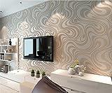 HEYUN& Heiße Linien Vliesstoff modernen minimalistischen Wohnzimmer TV Kulisse Tapeten stereoskopische 3D-Tapete ( Color : Weiß )