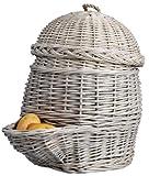 Esschert Design 2 Stück Kartoffelkorb in grau, ca. 35 cm x 47 cm x 45 cm
