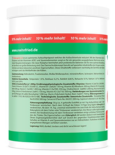 Röhnfried Kükenglück Aufzuchtpräparat (550 g), Kükenfutter mit Vitaminen als Pulver, Aufzuchtfutter für Hühner, Enten, Gänse, Truthühner & Geflügel - 4