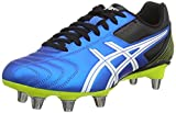 Asics Lethal Tackle, Chaussures de Rugby Homme - Bleu (Electric Blue/White/Flash Yell 3901) - 42 1/2 EU (8 UK)