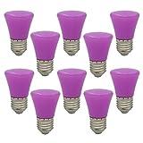 10 Stück E27 Lila Glühlampen Lampe Farbig Birne Beleuchtung Glühbirne Bunt Dekoration Leuchtmittel Für Partybeleuchtung Biergartenbeleuchtung