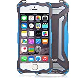 R-JUST Gundam doble Color oxidación aluminio Metal carcasa para iPhone 6 Plus 5,5 – azul