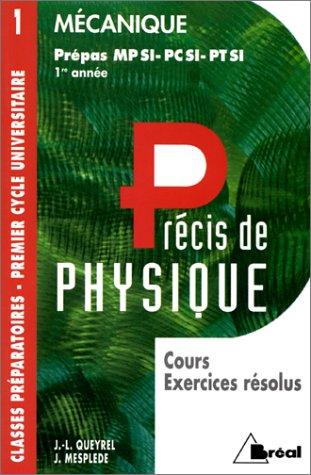Mécanique : MPSI, PCSI, PTSI