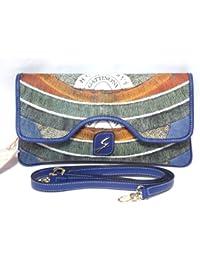 Gattinoni Mujer Nettuno Shoulder Bag Pochette Bolsa Bandolera a mano Bluette Cm 30x16x3