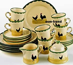 zeller keramik 20 piece tea coffee service set with. Black Bedroom Furniture Sets. Home Design Ideas