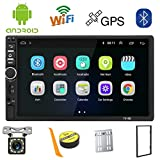 Autoradio 2 Din Android,Radio Voiture Bluetooth Navigation GPS,7 Pouces Voiture Lecteur Multimédia USB/SD/AUX Entrée