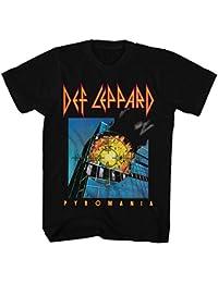 Def Leppard - - Pyromania camiseta de los hombres de