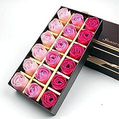 Idea Regalo - Binnan Rosa Aromaterapia Sapone Regalo Creativo per San Valentino, Compleanno, Festa Della Mamma-18 Pezzi