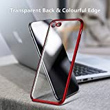 TORRAS iPhone 8 Case, iPhone 7 Case, Ultra Thin Slim Crystal Clear Case Stylish Edge Soft Flexible Silicone Gel TPU Bumper Case Cover Compatible iPhone 7/ iPhone 8 - Red