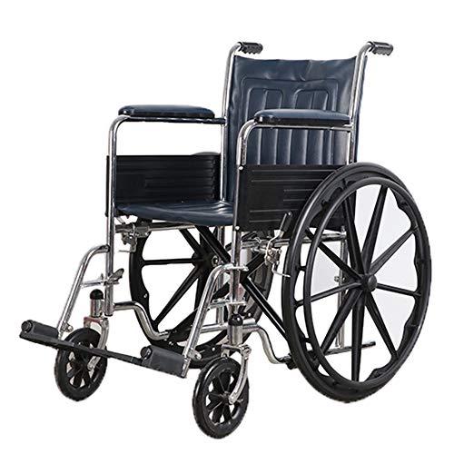 XMXWQ Fauteuils Roulants, Déambulateurs Portables Roue Arrière Robuste en Acier Au Carbone pour Faciliter Le Changement des Personnes Âgées Et Handicapées