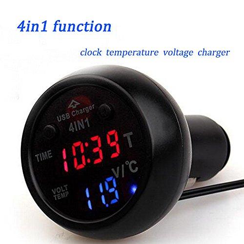 Boomboost-4in1-Chargeur-de-voiture-12V-24V-Cigarette-Lighter-Plug-LED-Voltmet