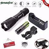 Yuan Super 5000 Lumens Helle CREE XML T6 LED Taschenlampe 3 Modes Einstellbarem Fokus Mit Ladegerät und Akku
