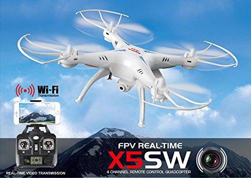 Preisvergleich Produktbild Deutschland Syma X5SW - 2.4G 4 Kanal 6-Achsen Quadrocopter - weiss - WiFi FPV HD Kamera