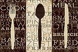 Digitaldruck / Poster Pela Studio - Kitchen Words Trio - 164 x 110cm - Premiumqualität - Grafik, Löffel, Messer, Gabel, Besteck, Schrift, Küchenbegriffe, Gastronomie, Bistro, .. - MADE IN GERMANY - ART-GALERIE-SHOPde