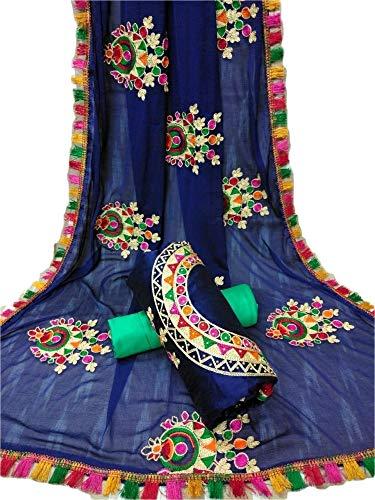 REKHA Ethnische Shop-Bollwood Praty Wear Indain Designer Chanderi Baumwolle Salwar Kameez S71 -