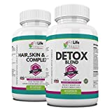 Detox Blend and Hair Skin and Nail Complex Combo Pack by Fit Life Health - Gentle, Effective Colon Cleanse, Plus Collagen, Silica And MSM Formula For Healthier-Looking Skin - Feel Great, Look Great, Save Money - Made In UK