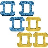 reyee 6paquetes HOBOT Robot de limpieza de ventana 268cristal limpiador paño seco/mojado Rubbing Mop