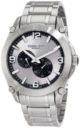 Pierre Petit Men's P-804C Serie Le Mans Automatic Stainless-Steel Sunray Dial Watch