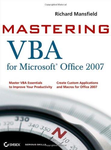 Preisvergleich Produktbild Mastering VBA for Microsoft Office 2007