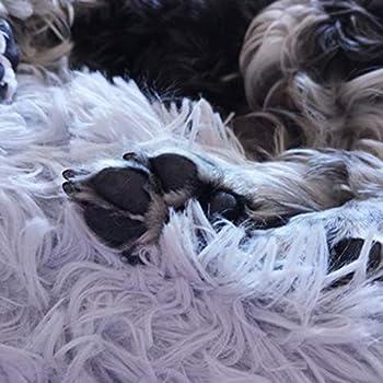 Deluxe Panier pour Animal Domestique pour Chats et Petits Chiens de Taille Moyenne Panier avec Coussin Moelleux Ronde ou Ovale en Forme de Donut gigognes Lit pour Animal Domestique
