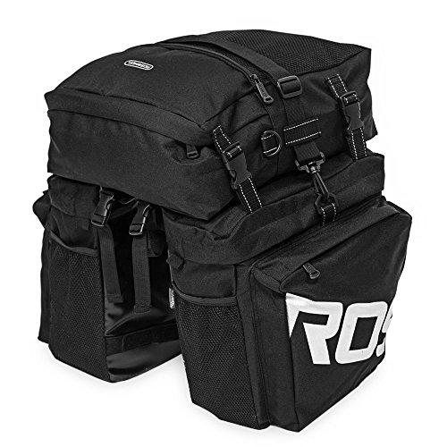 3 in 1 Fahrradtasche 37L Fahrrad Gepäcktasche Wasserdicht Durable Gepäckträgertasche